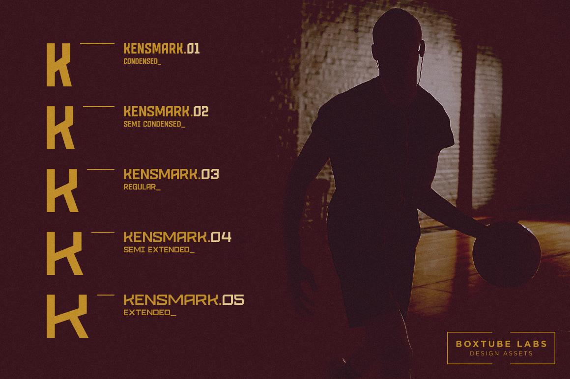 KENSMARK 03 Free Font - sans-serif