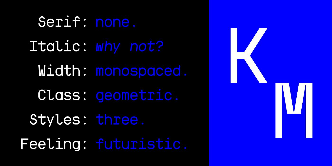 kraft Mono Free Font - monospaced