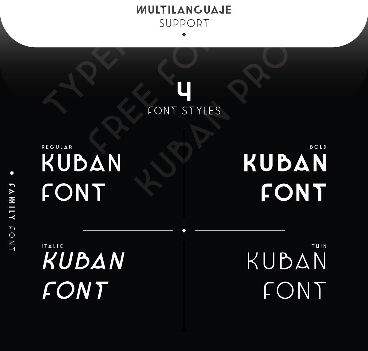 KUBAN Pro Free Font - sans-serif, decorative-display