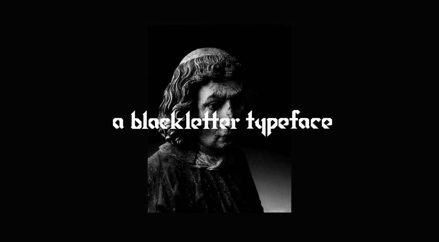 Kunt Free Font - blackletter
