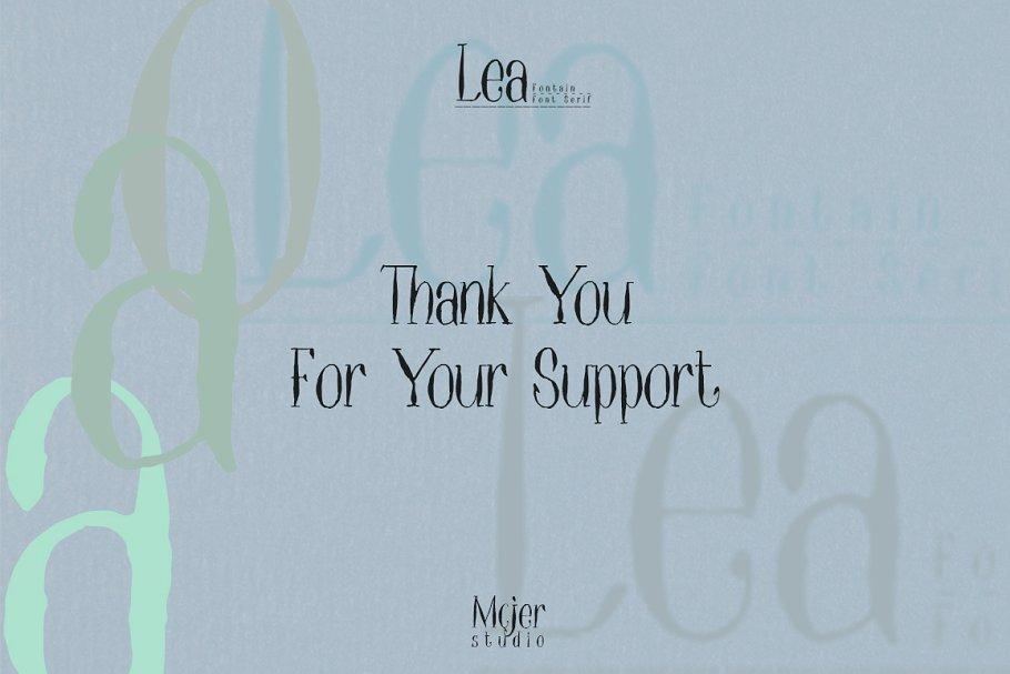 Lea Free Font - serif