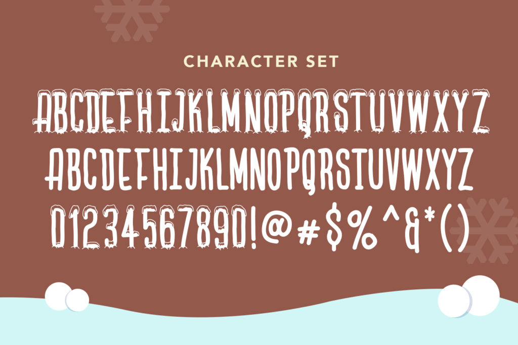 Lets Ski Free Font - decorative-display