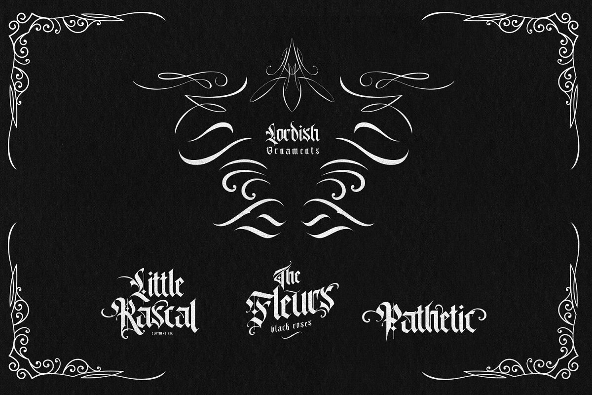 Lordish Free Font - blackletter