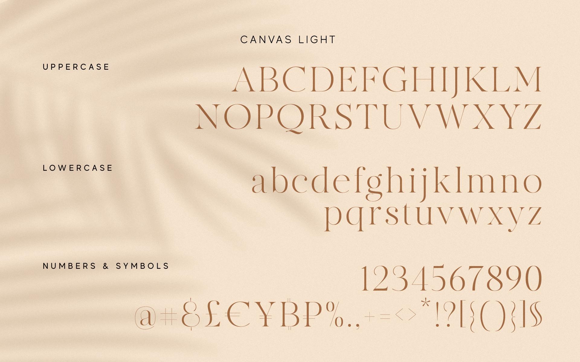 MADE Canvas Free Font - serif