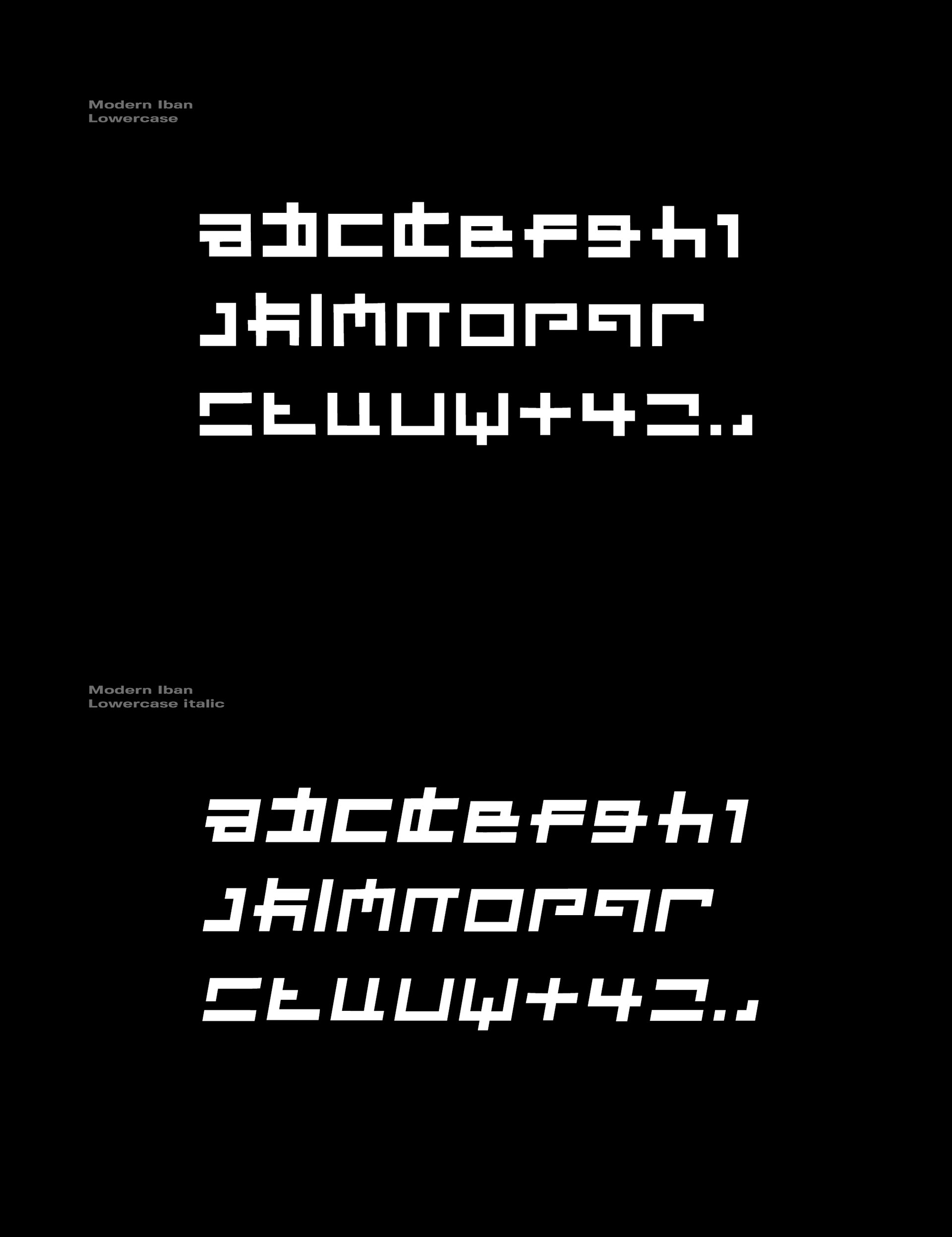 Modern Iban Free Font - decorative-display