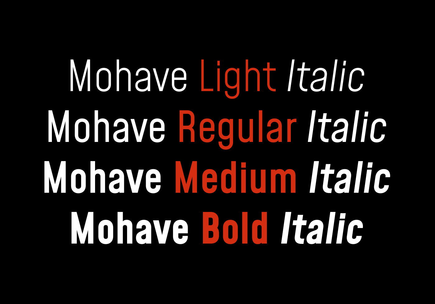 Mohave Fonts Family -