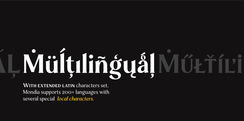 Mondia Free Typeface - serif