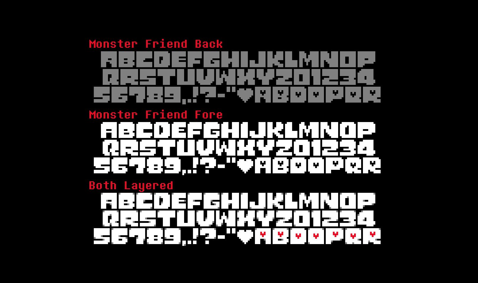 Monster Friend Free Font - bitmap-fonts