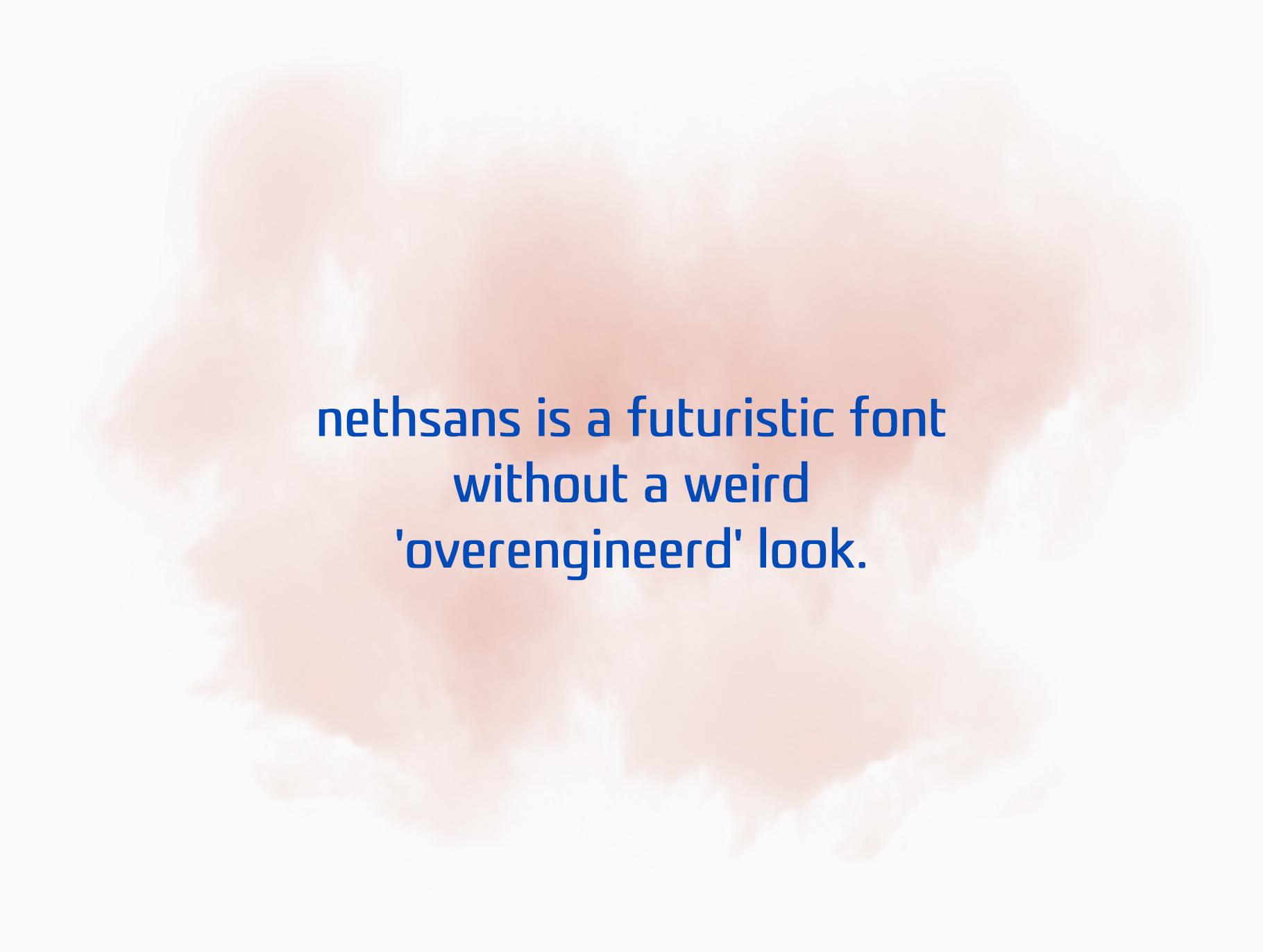 Nethsans Free Font - sans-serif