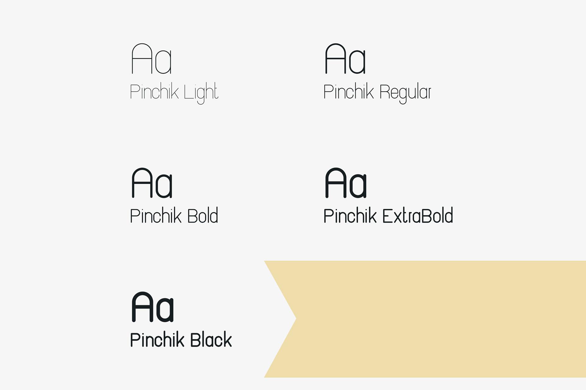 Pinchik Sans Family - sans-serif