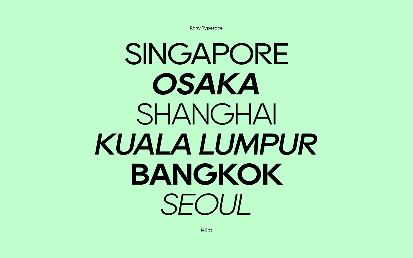 Rany Free Typeface - sans-serif