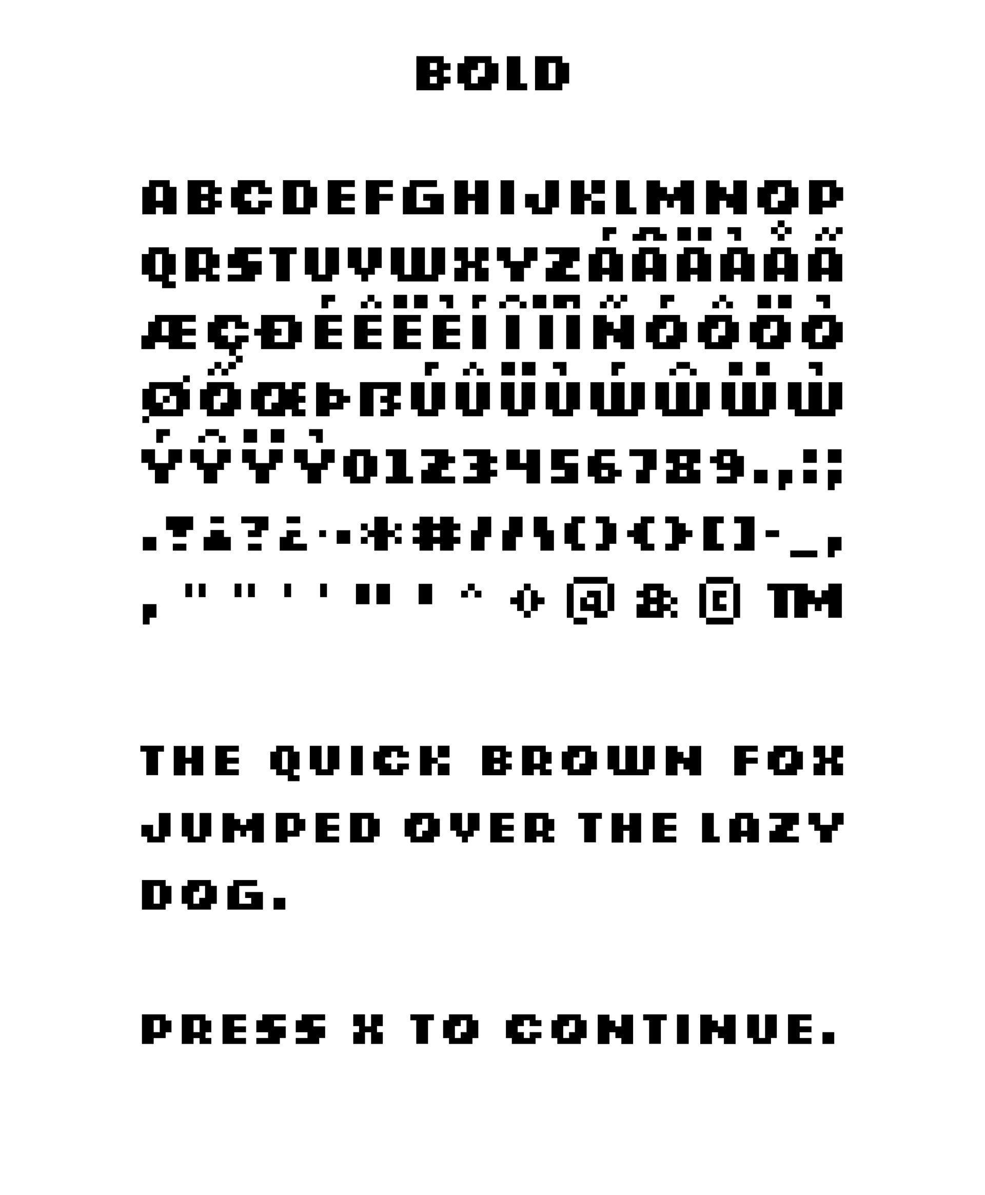 Retrograde Free Pixel Font