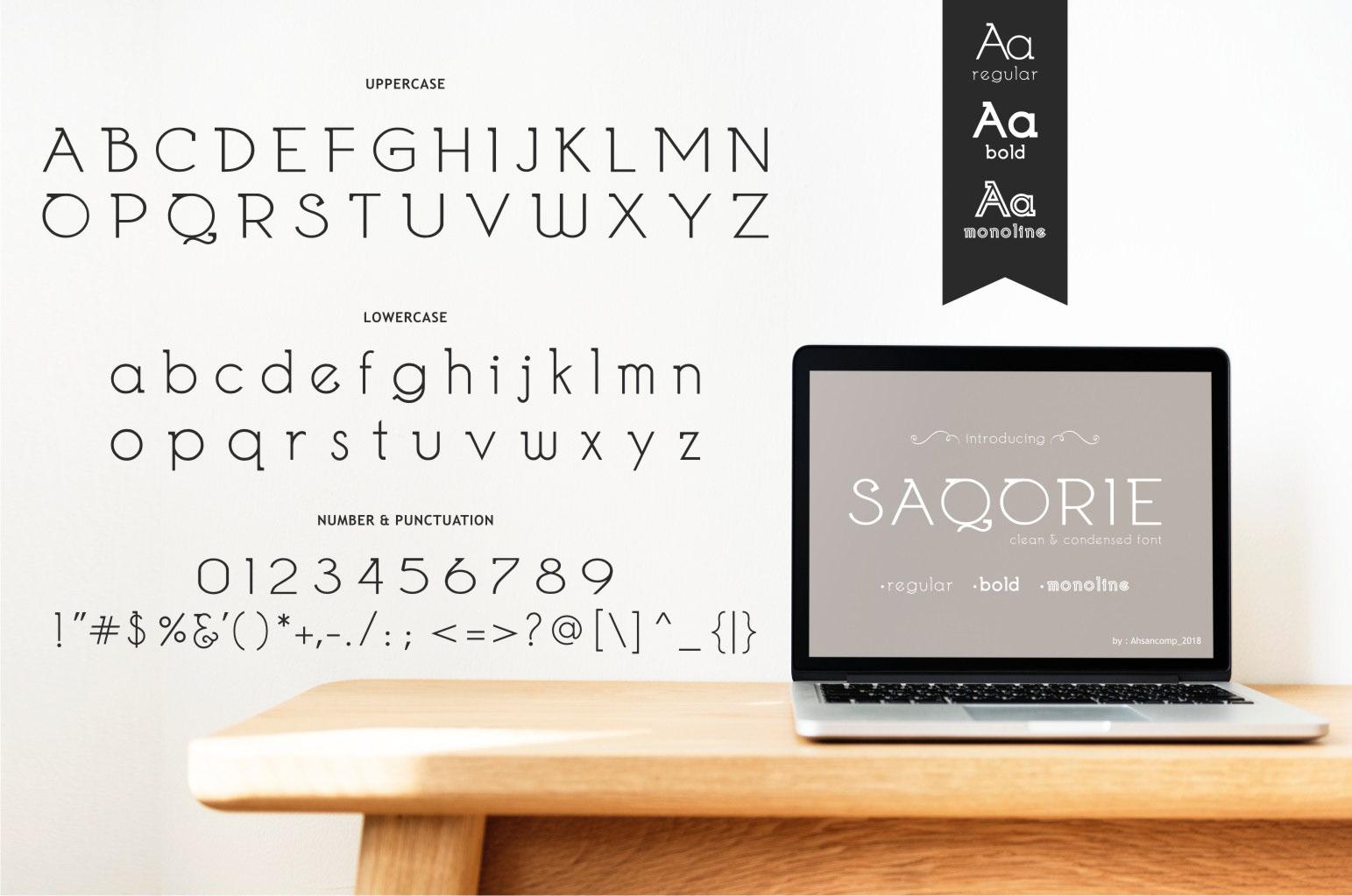 Saqorie Free Font - decorative
