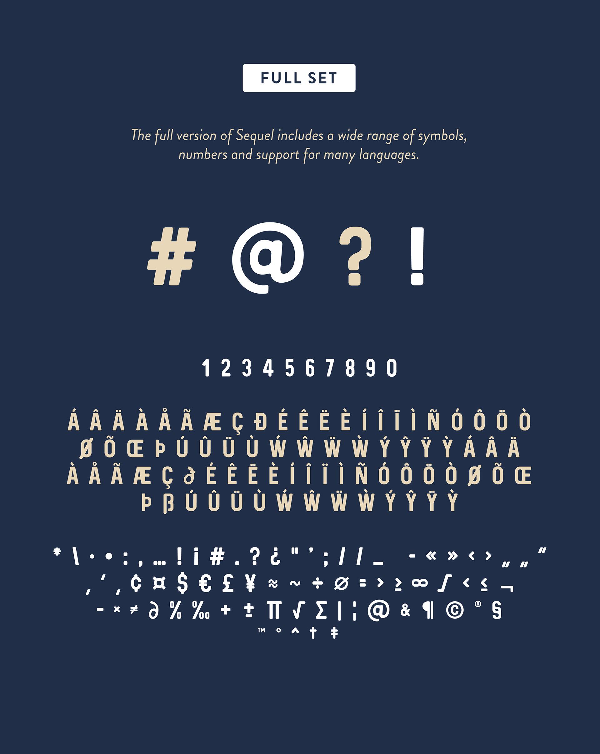 Sequel free font - sans-serif