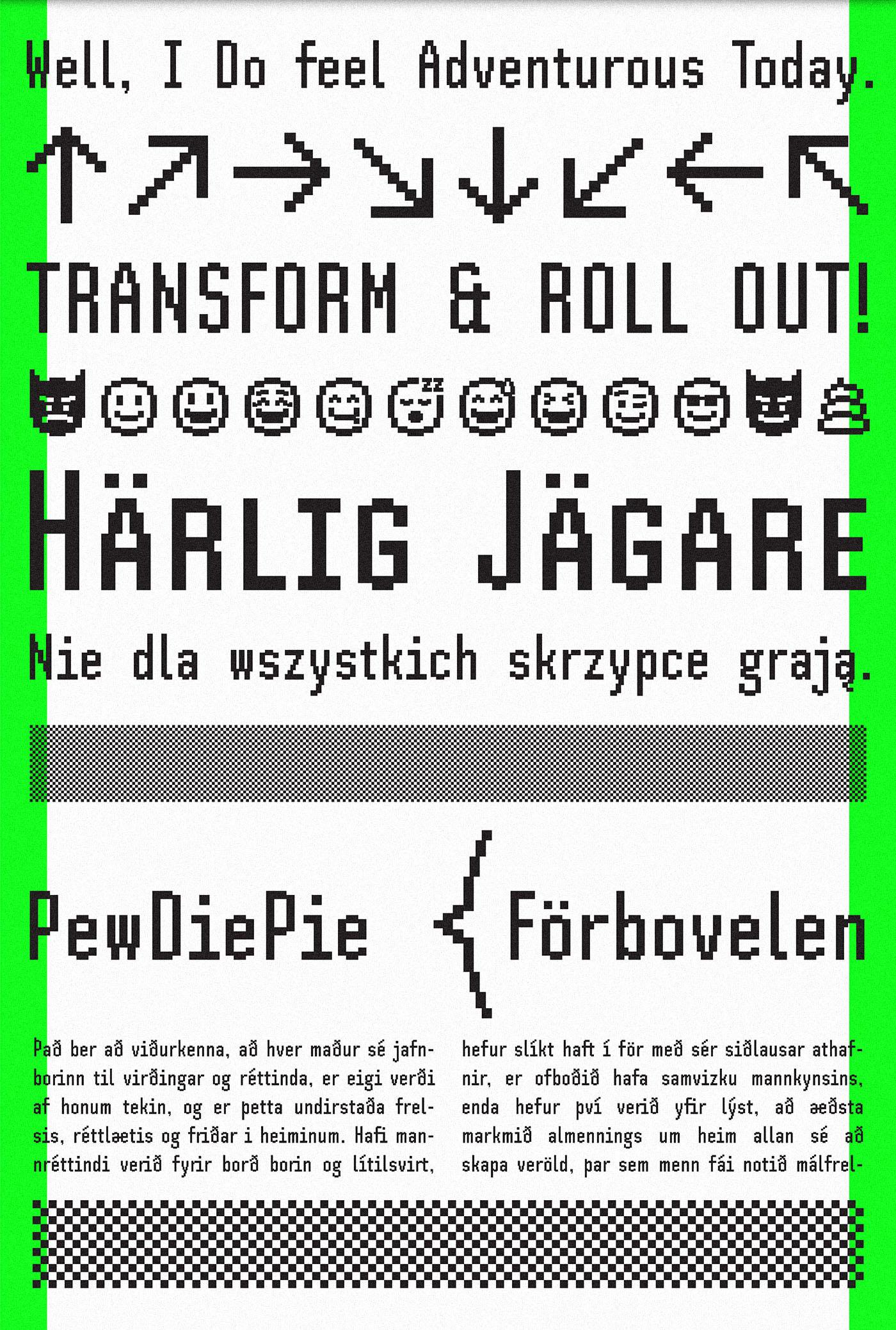 SH Pinscher Free Bitmap Font - bitmap-fonts