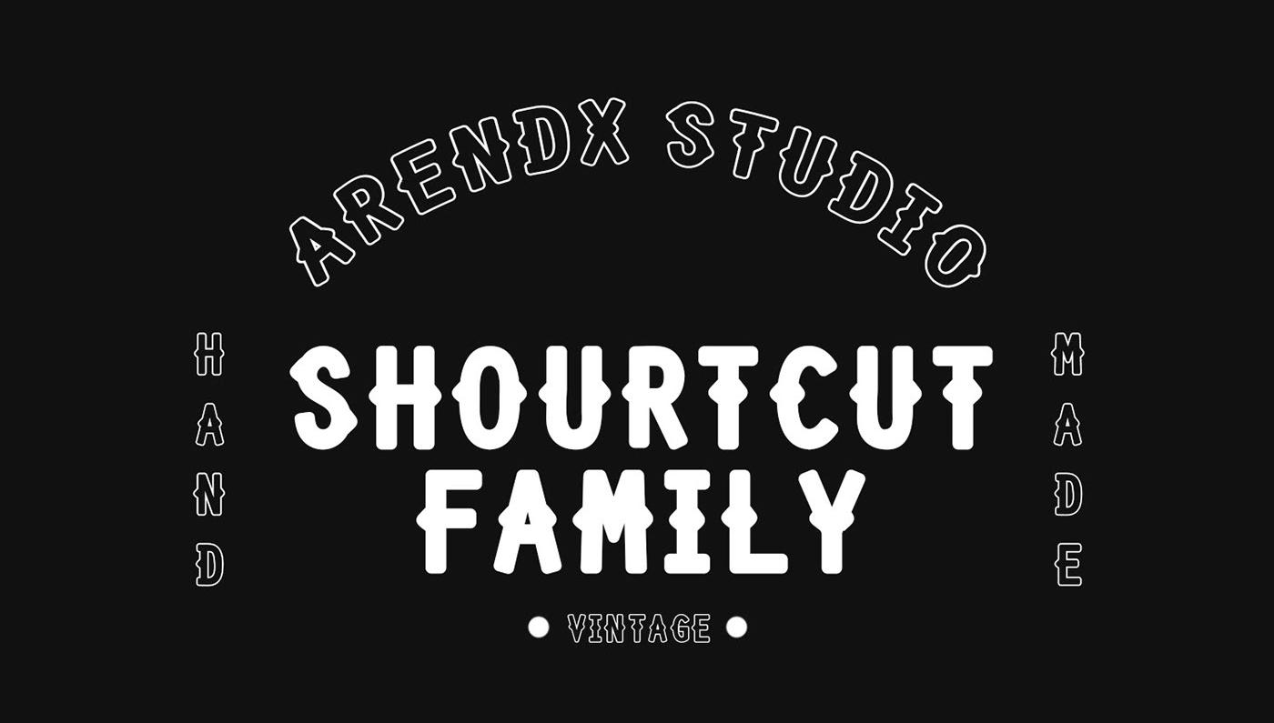 Shourtcut Free Font - decorative
