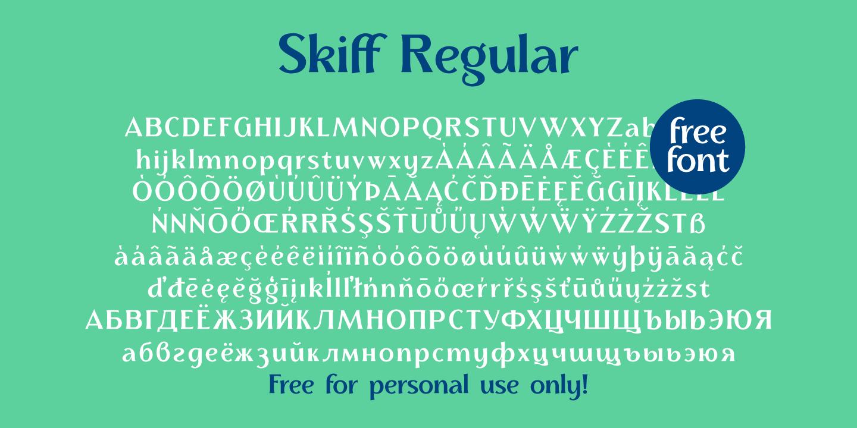 Skiff Variable Free Font Family - sans-serif