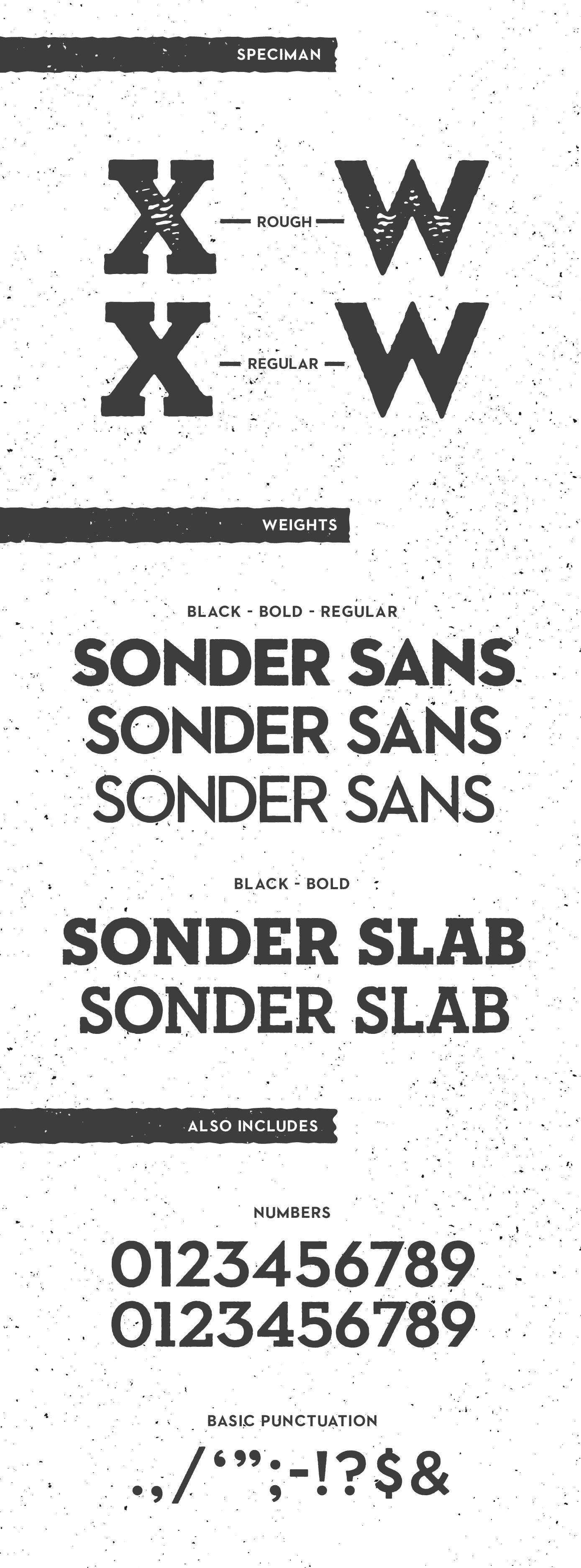 Sonder Free Font Family - slab-serif, sans-serif