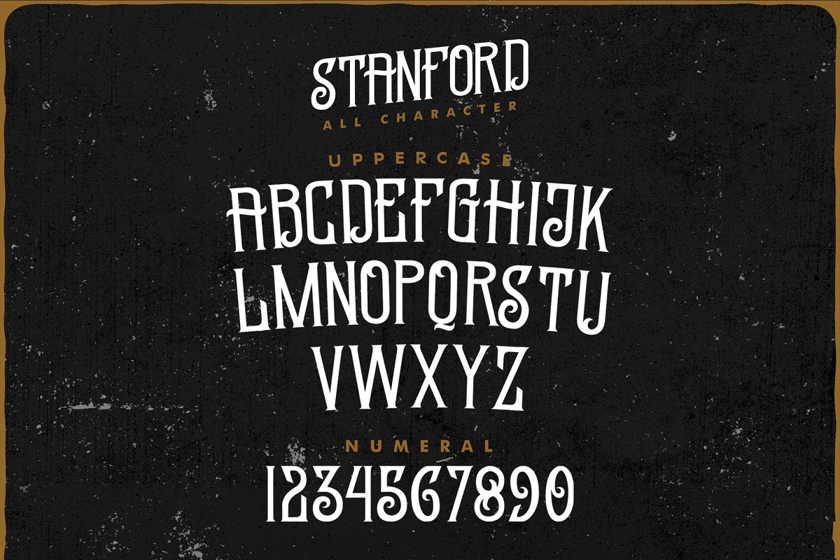 Standford Free Font - decorative-display