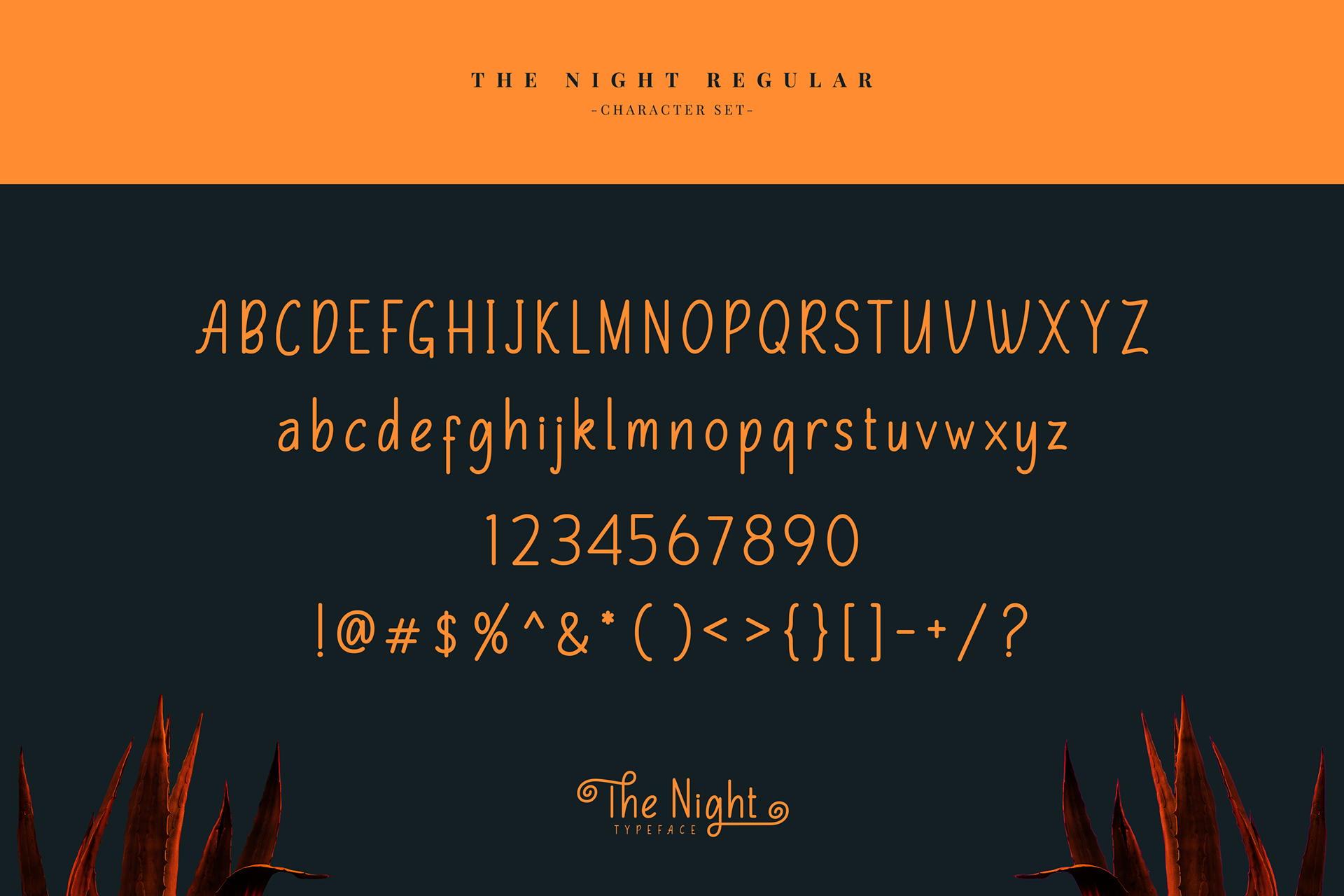 The Night Free Typeface - script