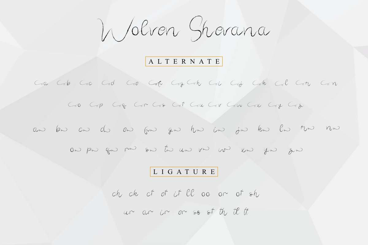 Wolven Shevana Free Font - script